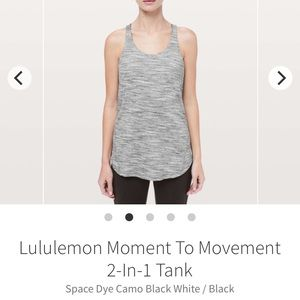 Lululemon Moment To Movement Tank 2 in 1 - Sz 8